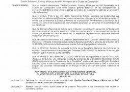 DESFILE DE CONCEPCIÓN SE DECLARA DE INTERÉS CULTURAL.