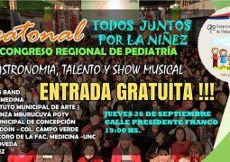 """PEATONAL """"TODOS JUNTOS POR LA NIÑEZ""""-9NO. CONGRESO REGIONAL DE PEDIATRÍA."""