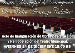 """ARTISTAS LOCALES Y NACIONALES HARÁN GALA DE ARTE EN LA INAUGURACIÓN DE OBRAS DE REFACCIÓN Y REMODELACIÓN DEL TEATRO MUNICIPAL """"DON PEDRO GREGORIO ANTONIO ALVARENGA CABALLERO"""""""